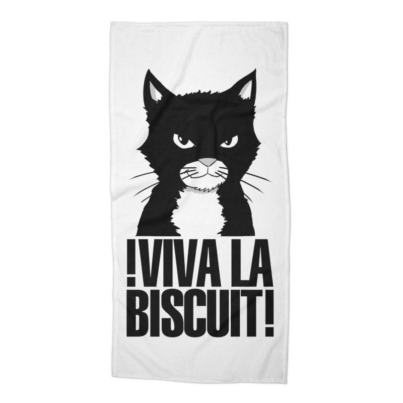!VivaLaBiscuit! (White) Accessories Beach Towel by Planet Henderson's Artist Shop