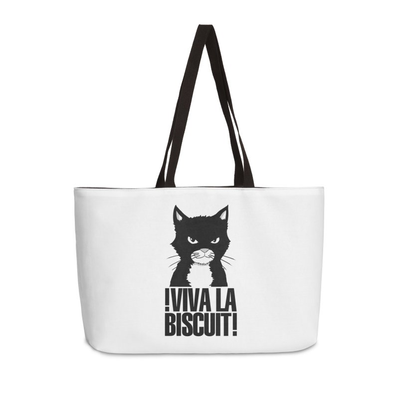 !VivaLaBiscuit! (White) Accessories Weekender Bag Bag by Planet Henderson's Artist Shop