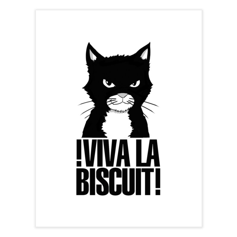 !VivaLaBiscuit! (White) Home Fine Art Print by Planet Henderson's Artist Shop