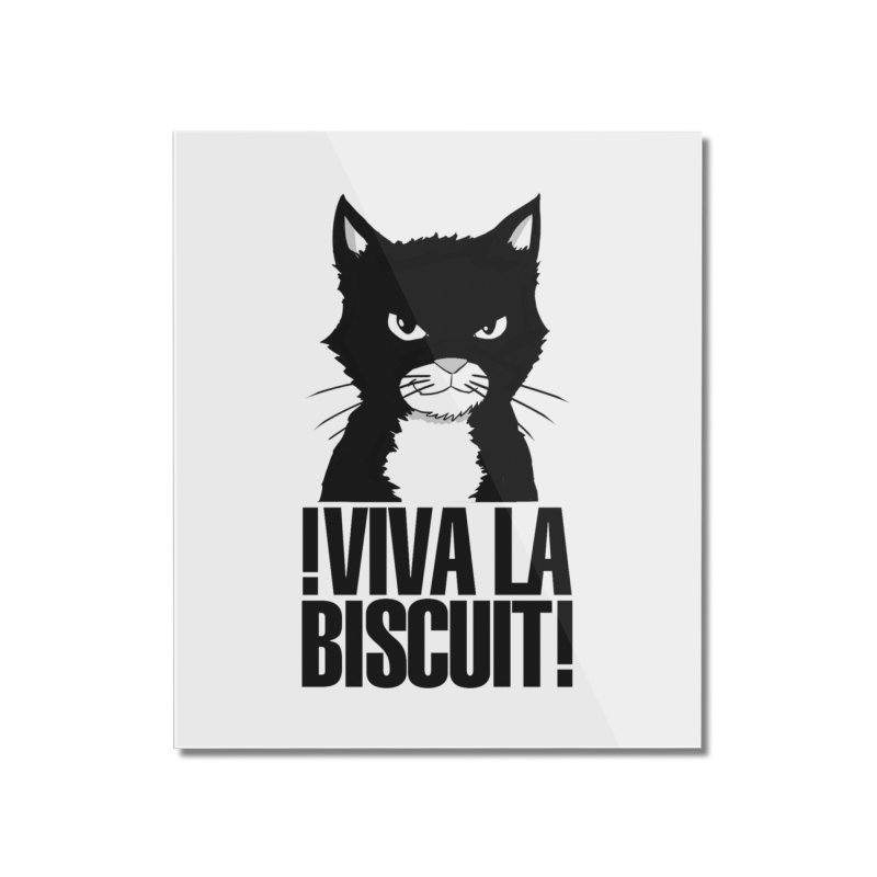 !VivaLaBiscuit! (White) Home Mounted Acrylic Print by Planet Henderson's Artist Shop
