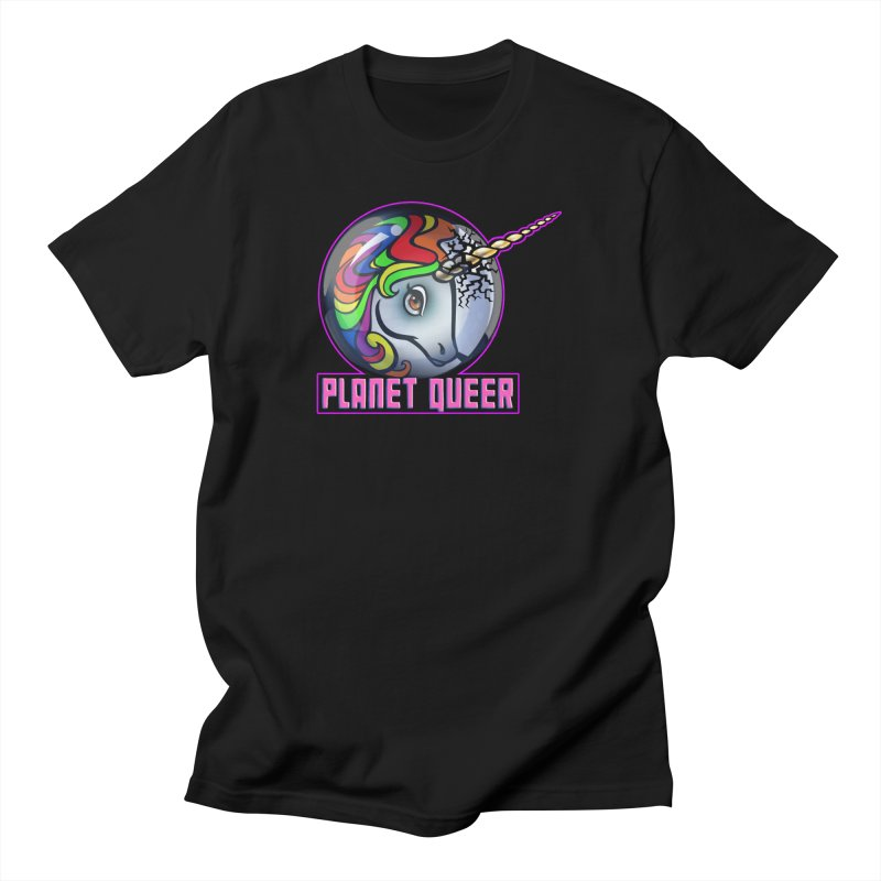 PLANET QUEER 9-Year Anniversary Merch Men's T-Shirt by Planet Queer's Artist Shop