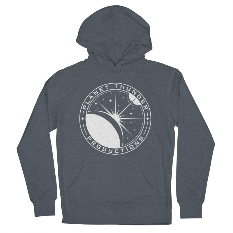Planet Thunderpatch - WHITE Men's French Terry Pullover Hoody by Planet Thunder Shop Stop