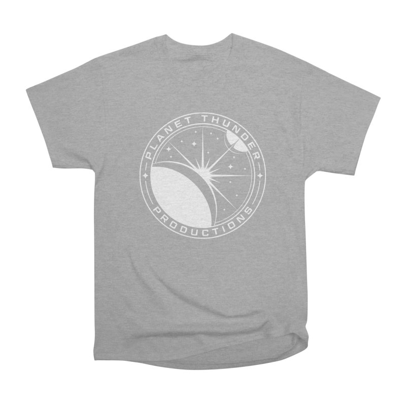 Planet Thunderpatch - WHITE Men's Heavyweight T-Shirt by Planet Thunder Shop Stop