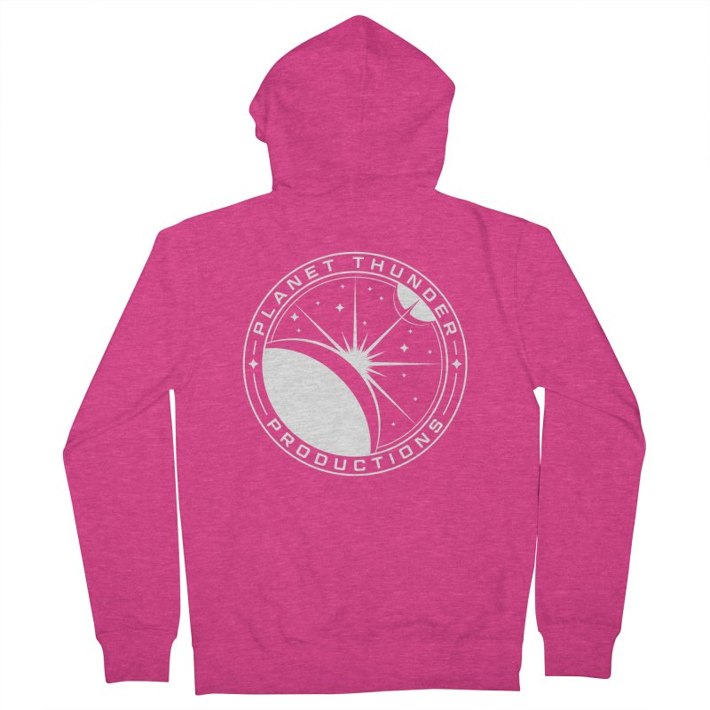 Planet Thunderpatch - WHITE Women's French Terry Zip-Up Hoody by Planet Thunder Shop Stop