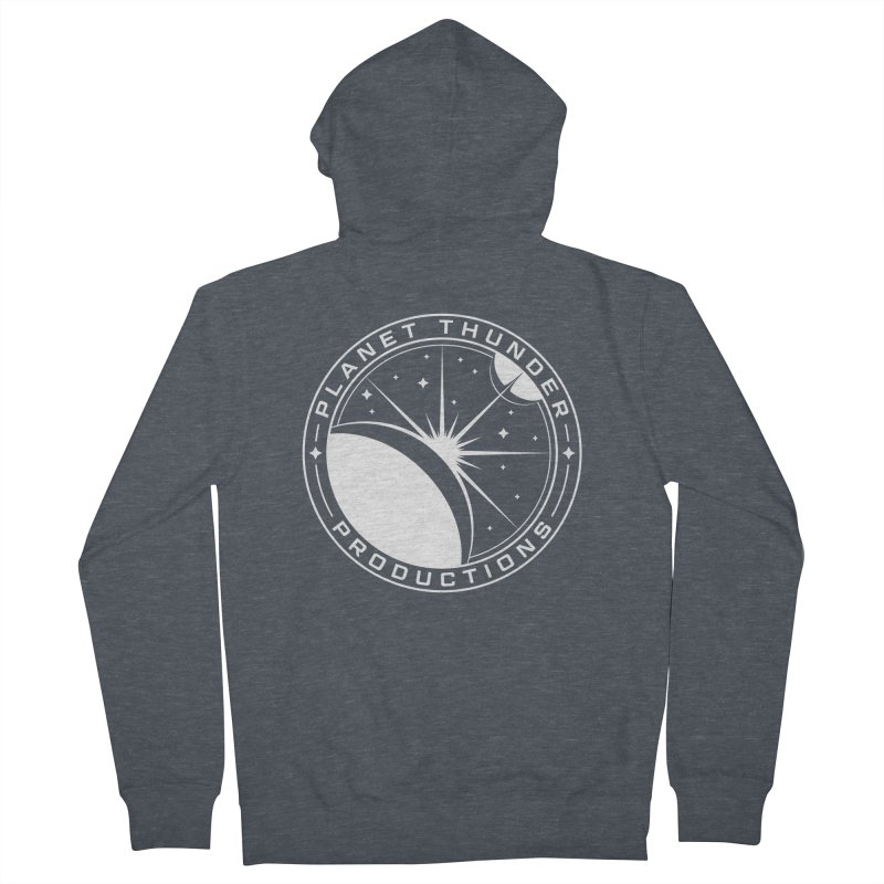 Planet Thunderpatch - WHITE Men's French Terry Zip-Up Hoody by Planet Thunder Shop Stop