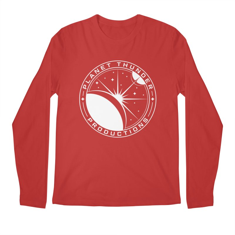 Planet Thunderpatch - WHITE Men's Regular Longsleeve T-Shirt by Planet Thunder Shop Stop