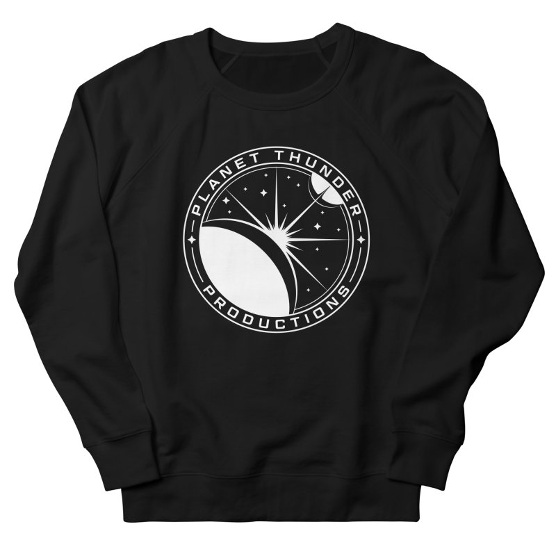 Planet Thunderpatch - WHITE Men's French Terry Sweatshirt by Planet Thunder Shop Stop