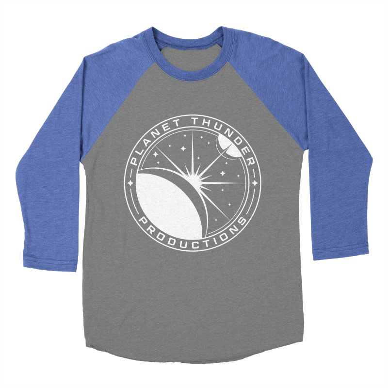 Planet Thunderpatch - WHITE Women's Baseball Triblend Longsleeve T-Shirt by Planet Thunder Shop Stop