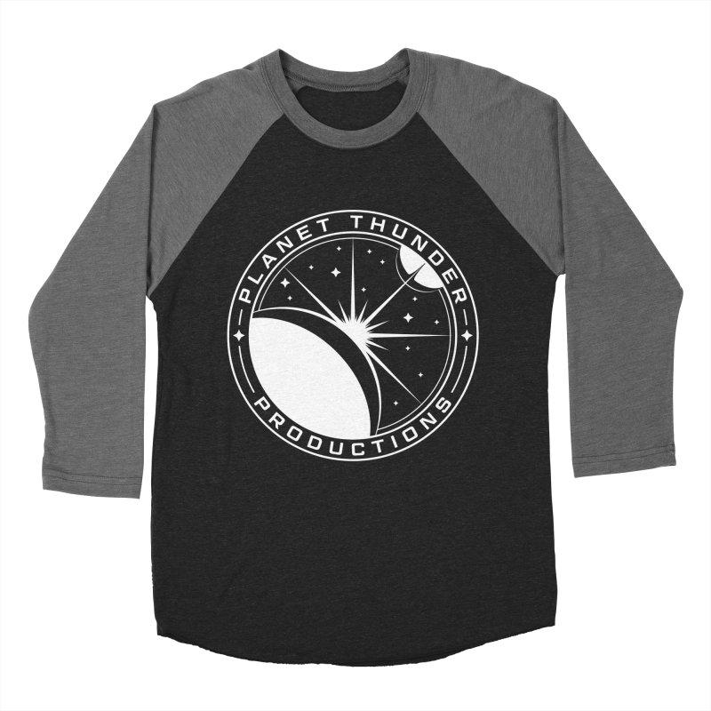 Planet Thunderpatch - WHITE Men's Baseball Triblend Longsleeve T-Shirt by Planet Thunder Shop Stop