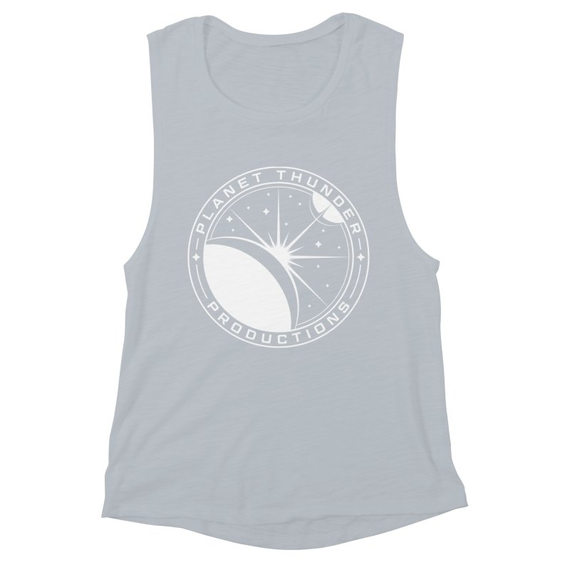 Planet Thunderpatch - WHITE Women's Muscle Tank by Planet Thunder Shop Stop