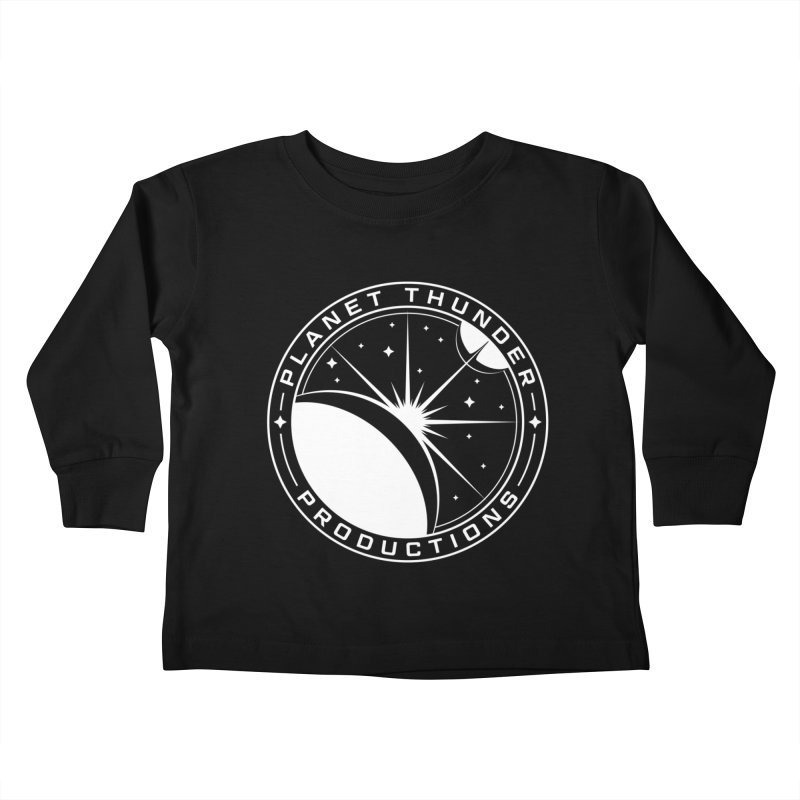 Planet Thunderpatch - WHITE Kids Toddler Longsleeve T-Shirt by Planet Thunder Shop Stop