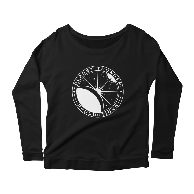Planet Thunderpatch - WHITE Women's Scoop Neck Longsleeve T-Shirt by Planet Thunder Shop Stop