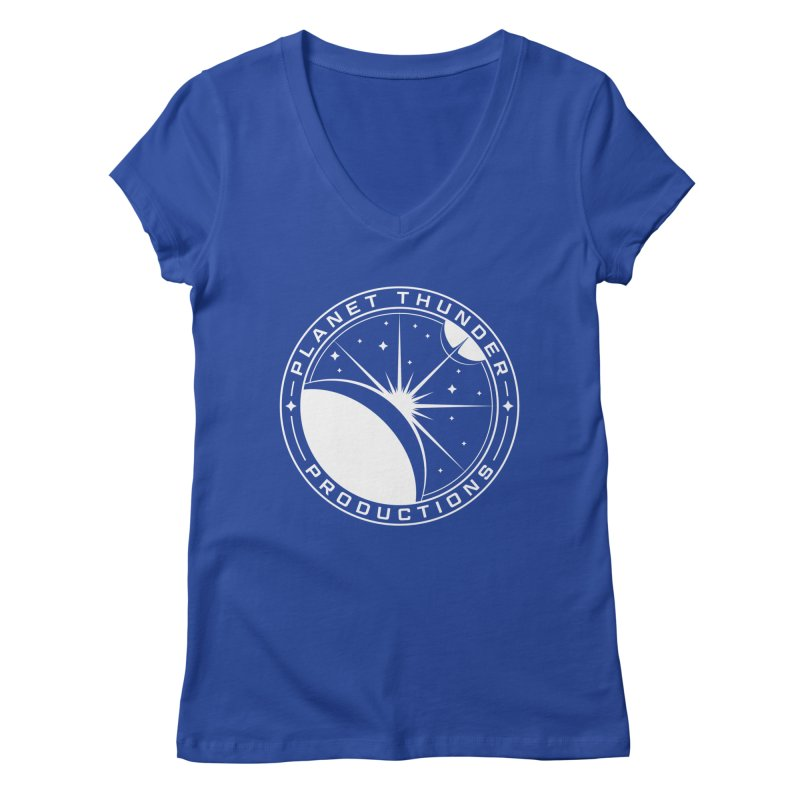 Planet Thunderpatch - WHITE Women's V-Neck by Planet Thunder Shop Stop