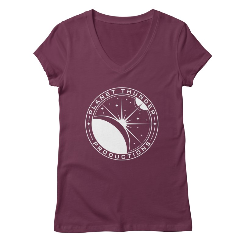 Planet Thunderpatch - WHITE Women's Regular V-Neck by Planet Thunder Shop Stop