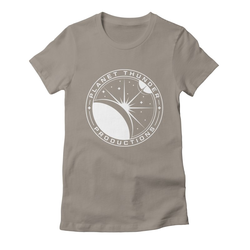 Planet Thunderpatch - WHITE Women's Fitted T-Shirt by Planet Thunder Shop Stop