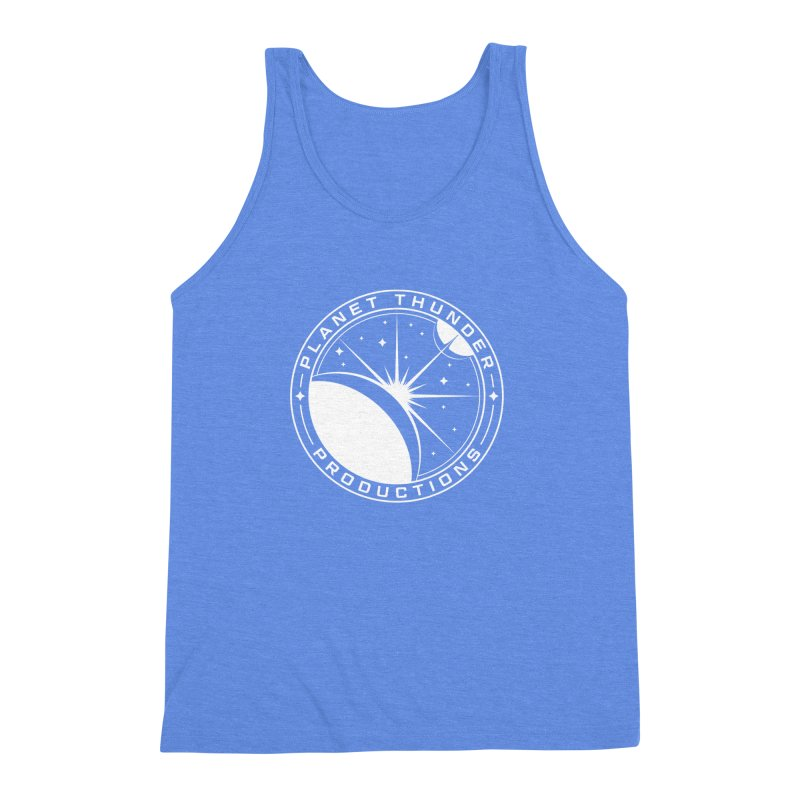 Planet Thunderpatch - WHITE Men's Triblend Tank by Planet Thunder Shop Stop