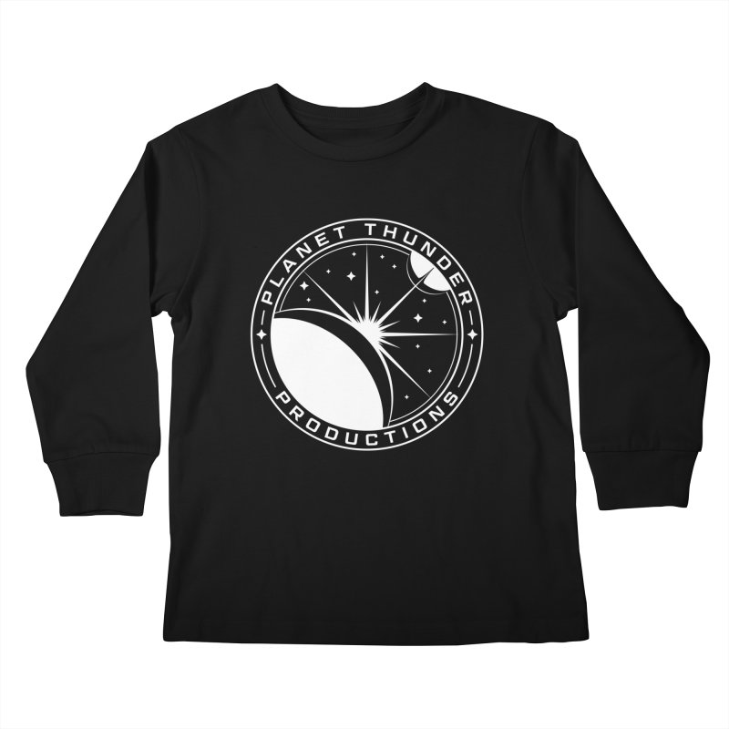 Planet Thunderpatch - WHITE Kids Longsleeve T-Shirt by Planet Thunder Shop Stop
