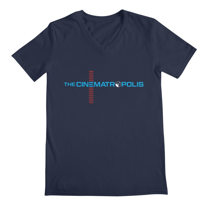 The Cinematropolis DOT COM Men's Regular V-Neck by Planet Thunder Shop Stop