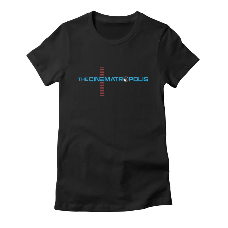 The Cinematropolis DOT COM Women's Fitted T-Shirt by Planet Thunder Shop Stop