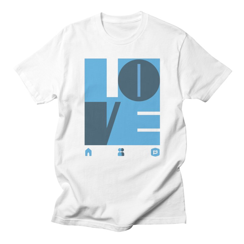Love No.1 in Men's Regular T-Shirt White by Planning Center Swag