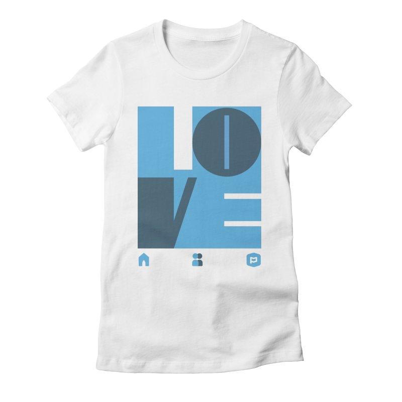 Love No.1 Women's Fitted T-Shirt by Planning Center Swag