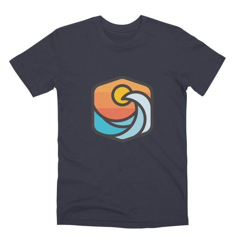 Sunset Wave Men's Premium T-Shirt by Planning Center Swag