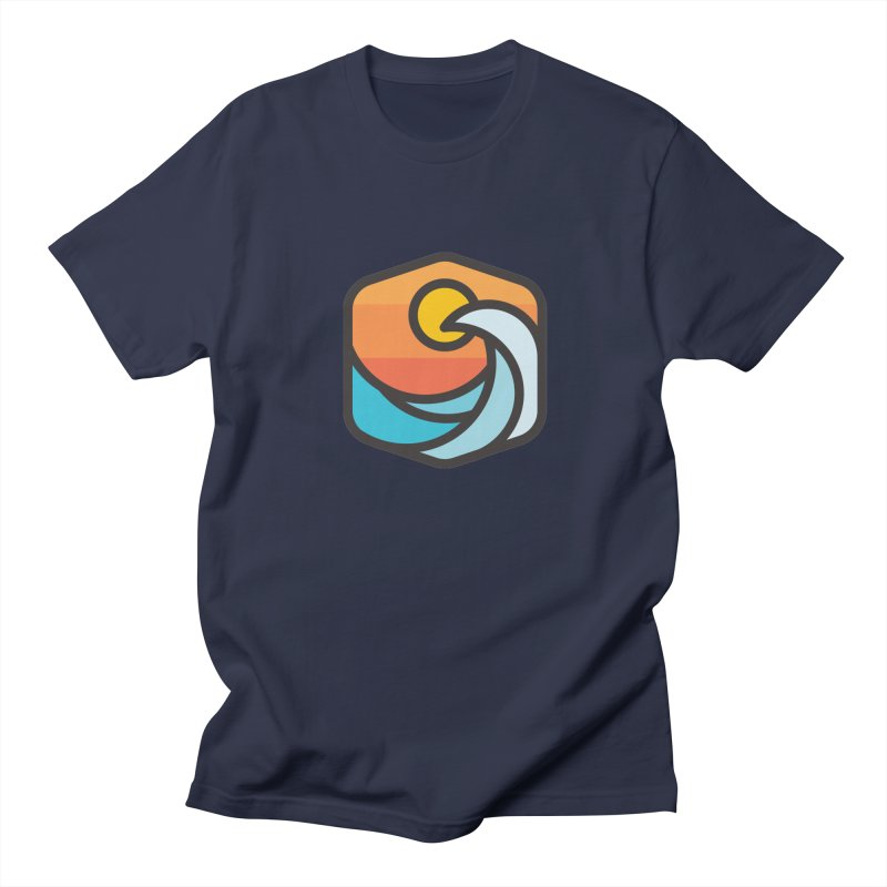 Sunset Wave in Men's Regular T-Shirt Navy by Planning Center Swag