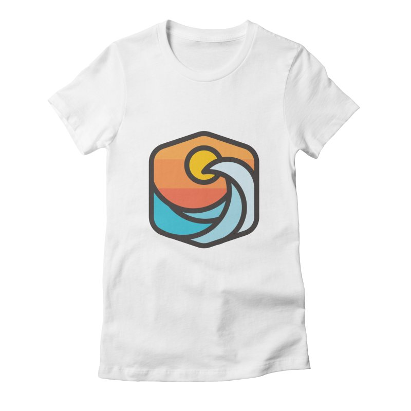 Sunset Wave Women's Fitted T-Shirt by Planning Center Swag
