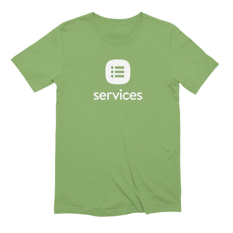 Services Green Tee in Men's Extra Soft T-Shirt Avocado by Planning Center Swag