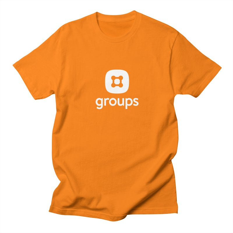 Groups Tee in Men's Regular T-Shirt Orange by Planning Center Swag