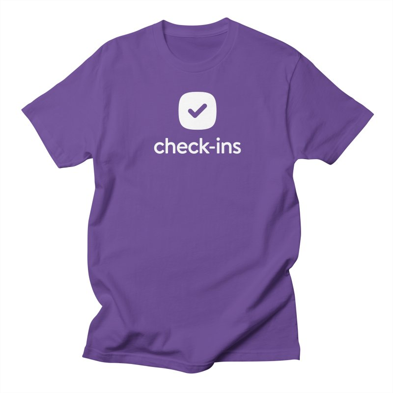 Check-Ins Tee in Men's Regular T-Shirt Purple by Planning Center Swag