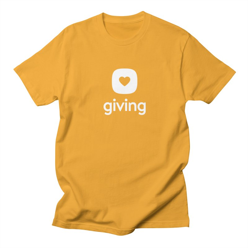 Giving Tee in Men's Regular T-Shirt Gold by Planning Center Swag