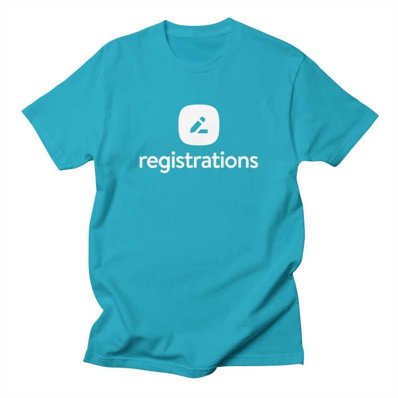 Registrations Tee in Men's Regular T-Shirt Cyan by Planning Center Swag