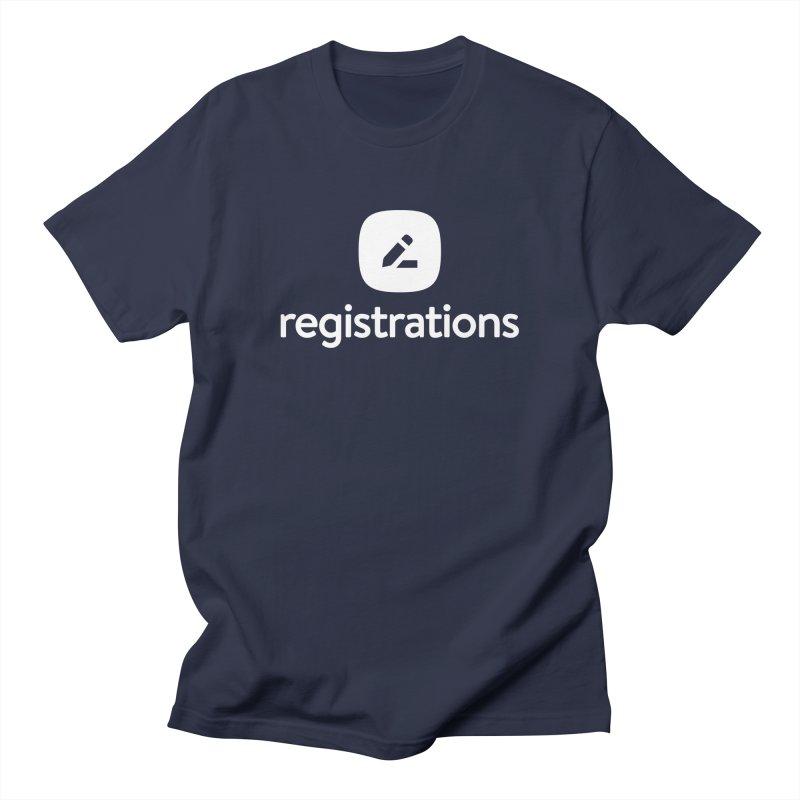 Registrations Tee Men's Regular T-Shirt by Planning Center Swag