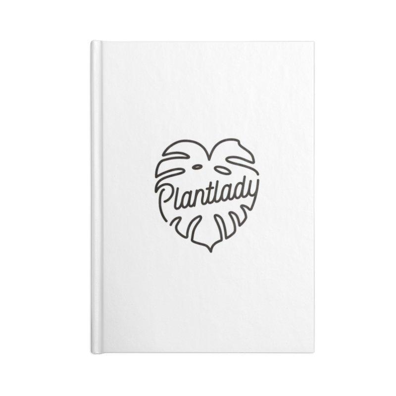 Plantlady Logo Black Accessories Notebook by Mee Schmid Plantlady Shop