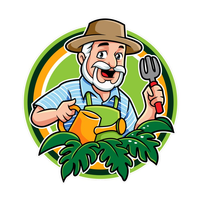 PLANTOPHILES LOGO GARDENER Accessories Sticker by Plantophiles's Shop