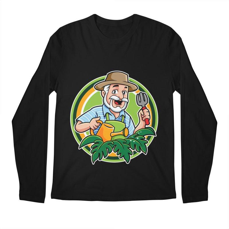 PLANTOPHILES LOGO GARDENER Men's Longsleeve T-Shirt by Plantophiles's Shop