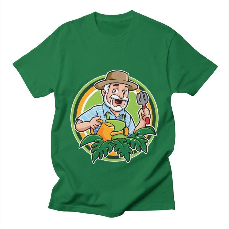 PLANTOPHILES LOGO GARDENER Men's T-Shirt by Plantophiles's Shop