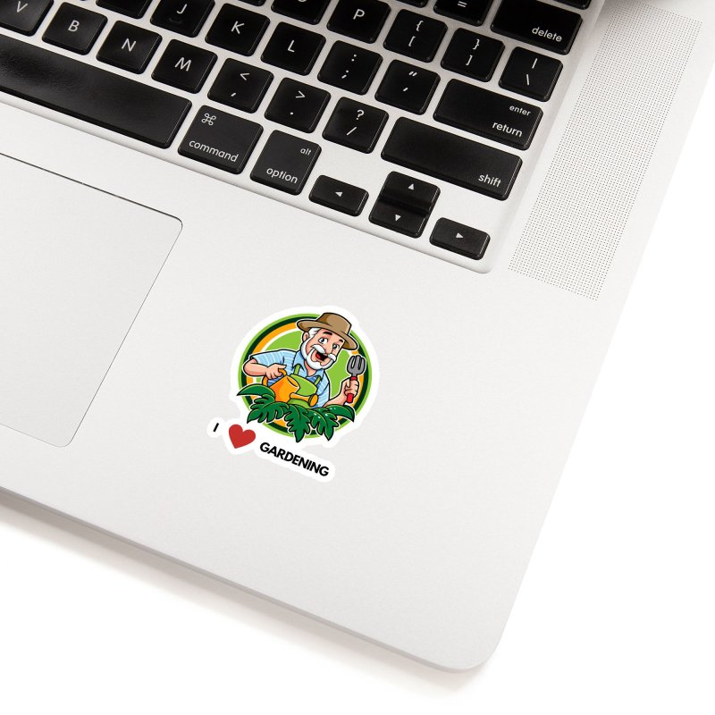 I LOVE GARDENING Accessories Sticker by Plantophiles's Shop