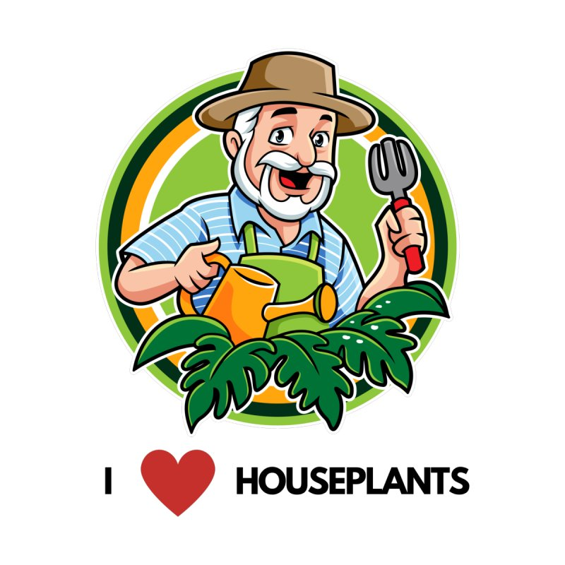 I LOVE HOUSEPLANTS Men's Pullover Hoody by Plantophiles's Shop
