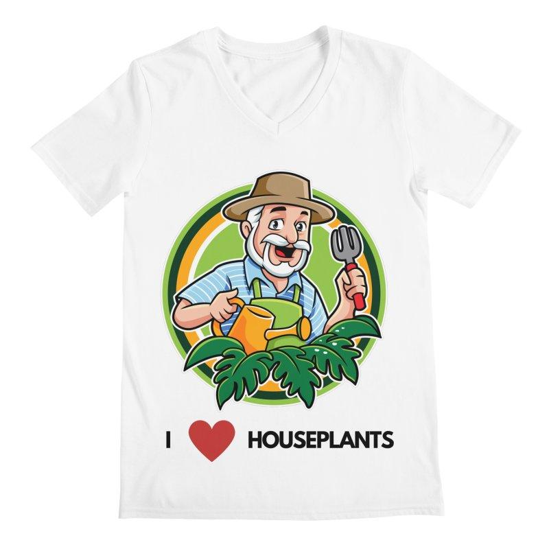 I LOVE HOUSEPLANTS Men's V-Neck by Plantophiles's Shop
