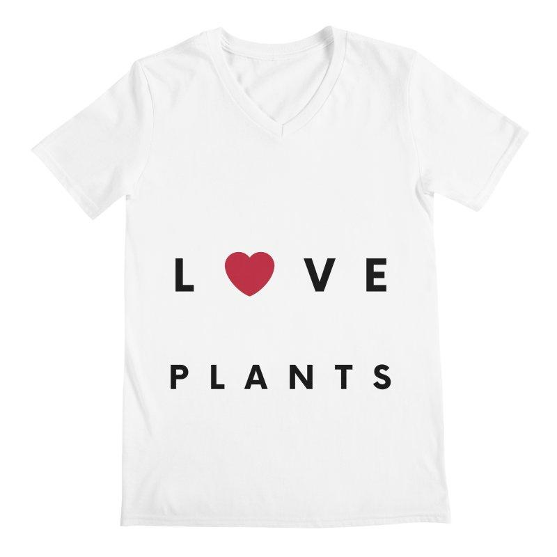 LOVE PLANTS Men's V-Neck by Plantophiles's Shop
