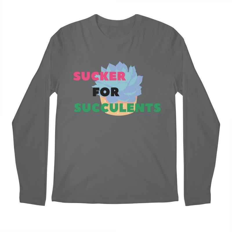 Sucker for Succulents Men's Longsleeve T-Shirt by Plantophiles's Shop