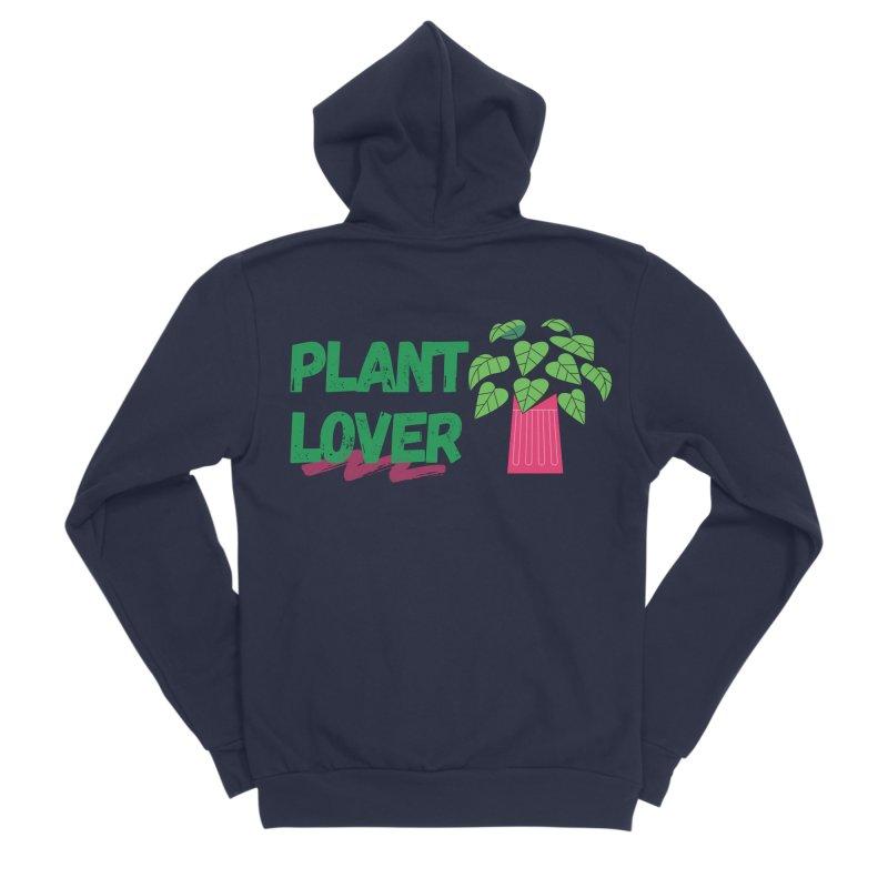 PLANT LOVER Men's Zip-Up Hoody by Plantophiles's Shop