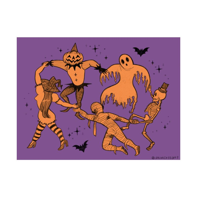The Halloween Dance Home Framed Fine Art Print by looks by primcess