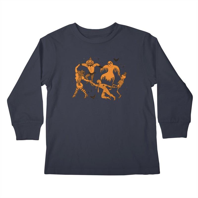 Orange Halloween Dance Kids Longsleeve T-Shirt by looks by primcess