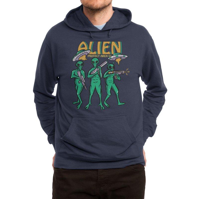 Alien Protect Area 51 Men's Pullover Hoody by plasticghost's Artist Shop