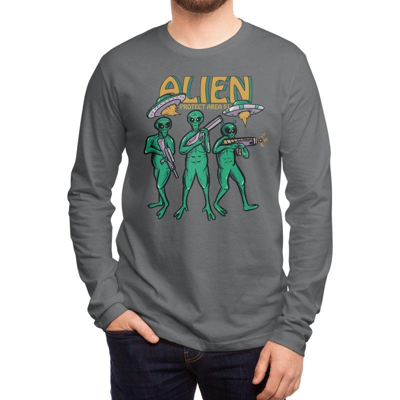 Alien Protect Area 51 Men's Longsleeve T-Shirt by plasticghost's Artist Shop