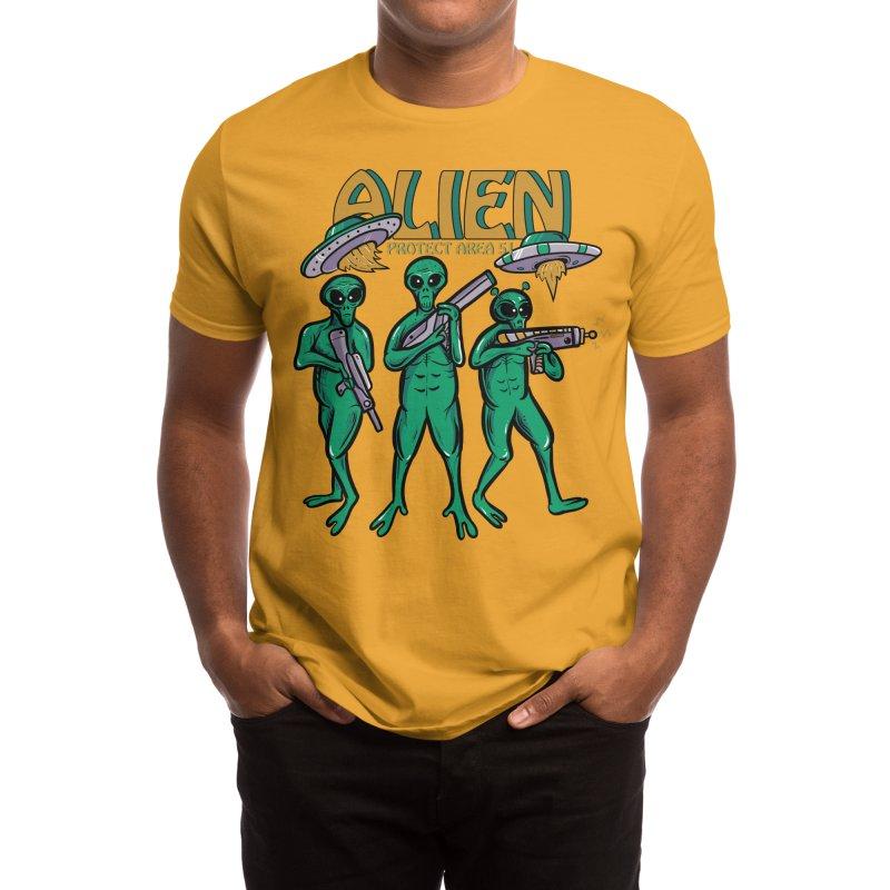 Alien Protect Area 51 Men's T-Shirt by plasticghost's Artist Shop
