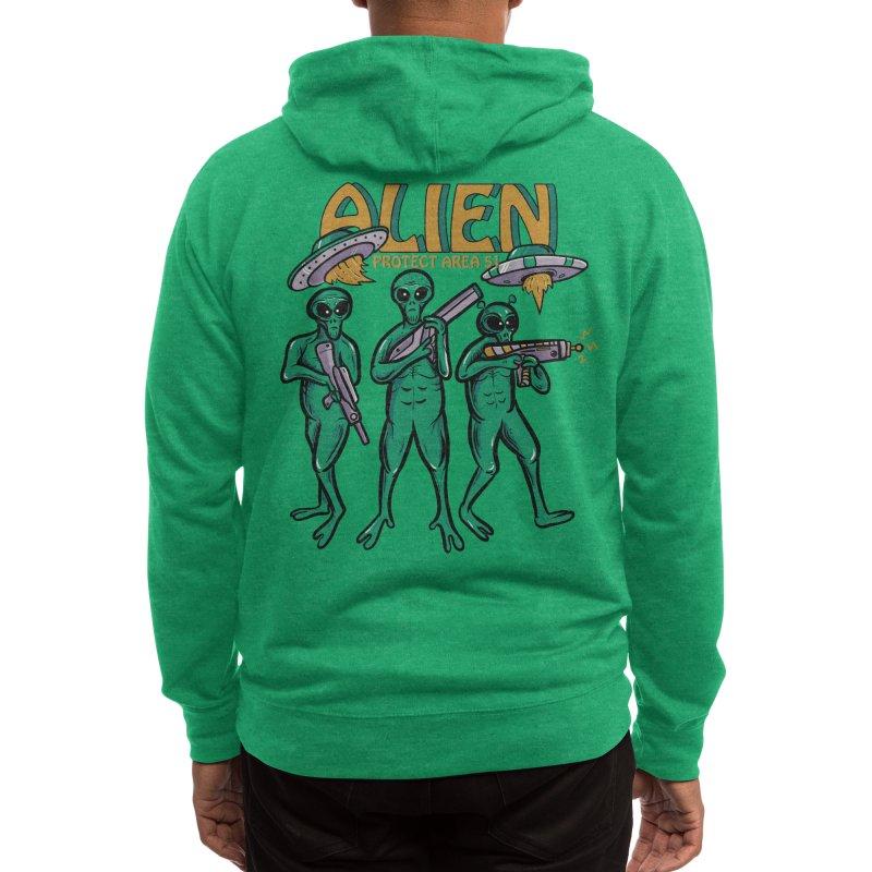 Alien Protect Area 51 Men's Zip-Up Hoody by plasticghost's Artist Shop